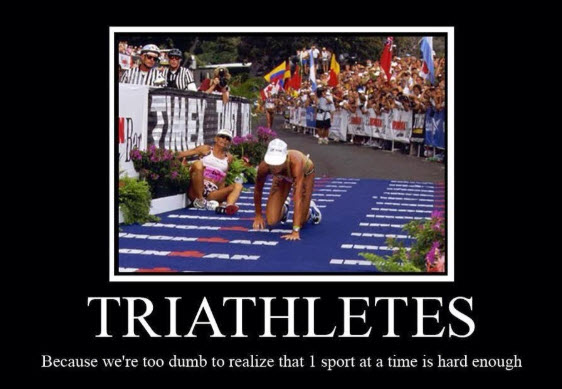 triathletes dumb
